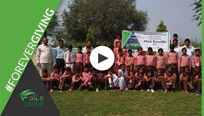 Forever Giving - Shoe Distribution in India by Aloe Cache and Digi Sails