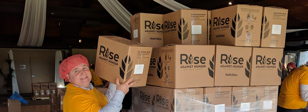 Rise Against Hunger Volunteer - Mark Rzucidlo from Aloe Cache